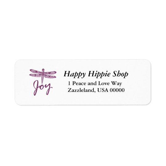 Holiday Joy Purple Dragonfly