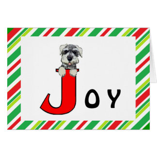 Holiday Joy Schnauzer Card