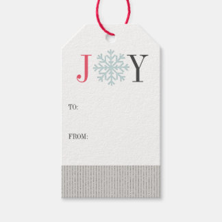 Holiday JOY Snowflake Gift Tags | 10 Pack