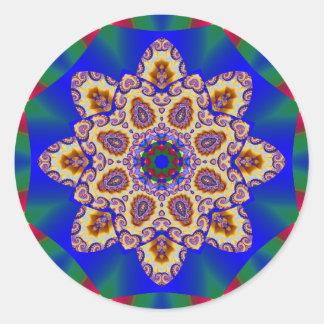 Holiday Kaleidoscope #1 Classic Round Sticker