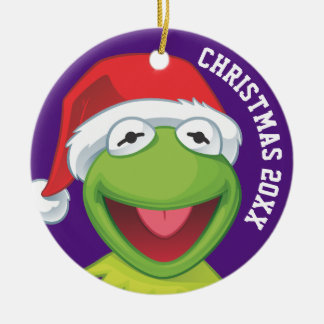 Holiday Kermit 2 Ceramic Ornament