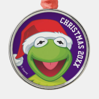 Holiday Kermit 2 Metal Ornament