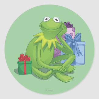 Holiday Kermit 3 Round Sticker