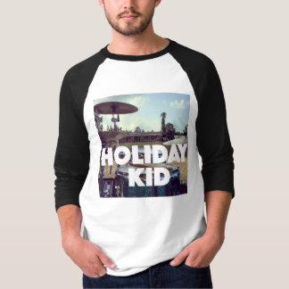 Holiday Kid 3/4 Sleeve Raglan T-shirt! Tee Shirt