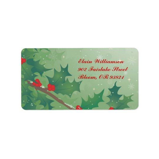 Holiday Leaves Label