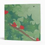 Holiday Leaves Vinyl Binders