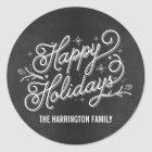 Holiday Lettering Gift Tag Sticker /Envelope Seal