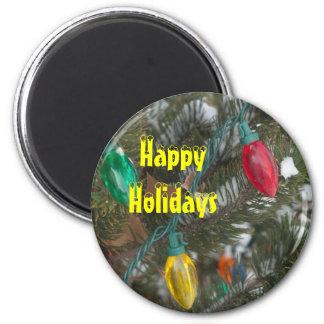 Holiday Lights Christmas Magnet