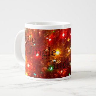 Holiday lights coffee mug words Jingle Jingle J..