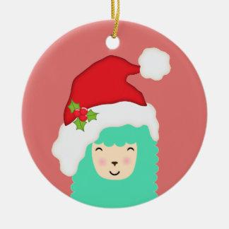 Holiday Llama Christmas Ornament