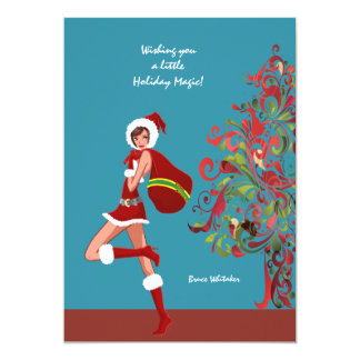 Holiday Magic Christmas Card Personalized Invitations