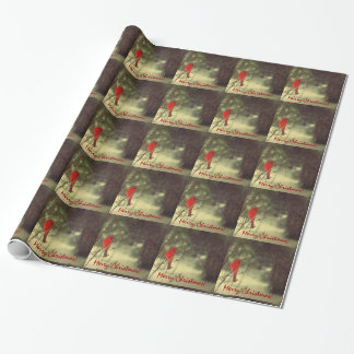 Holiday Male Cardinal Wrapping Paper