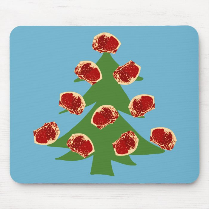 Holiday Meat Tree Mouse Pad