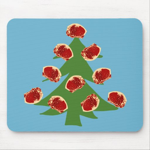 Holiday Meat Tree Mousepad