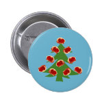 Holiday Meat Tree Pinback Buttons