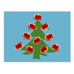Holiday Meat Tree Postcards