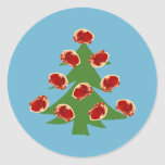 Holiday Meat Tree Round Sticker