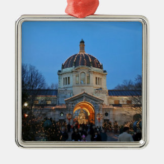 Holiday Memories At The Bronx Zoo Metal Ornament