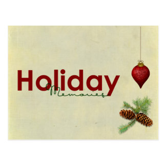 holiday memories post card