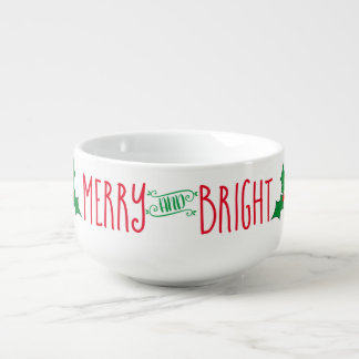 Holiday Merry & Bright Soup Mug