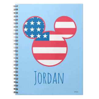 Holiday Mickey | Flag Icon - Personalized Notebook