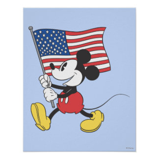 Holiday Mickey | Flag Poster