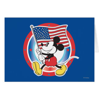 Holiday Mickey | Flag with Circle Card