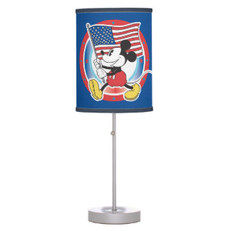 Holiday Mickey | Flag with Circle Table Lamp