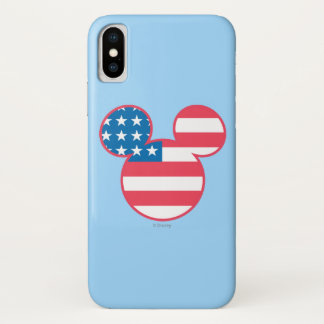 Holiday Mickey | Mouse Head Flag Icon Case-Mate iPhone Case