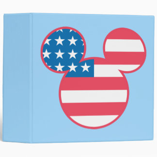 Holiday Mickey | Mouse Head Flag Icon Vinyl Binders