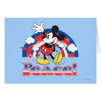 Holiday Mickey | Patriotic Peace Rainbow Card