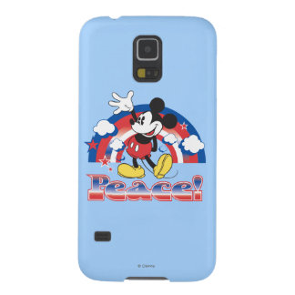 Holiday Mickey   Patriotic Peace Rainbow Cases For Galaxy S5