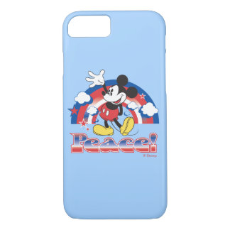 Holiday Mickey | Patriotic Peace Rainbow iPhone 7 Case