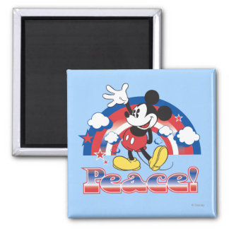 Holiday Mickey | Patriotic Peace Rainbow Magnet