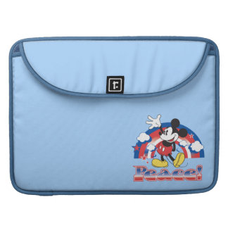 Holiday Mickey | Patriotic Peace Rainbow Sleeve For MacBooks