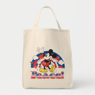 Holiday Mickey | Patriotic Peace Rainbow Tote Bag