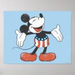 Holiday Mickey   Patriotic Singing Poster