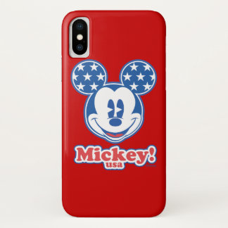 Holiday Mickey | Patriotic Stars iPhone X Case