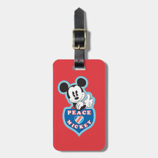 Holiday Mickey | Peace Love Bag Tag