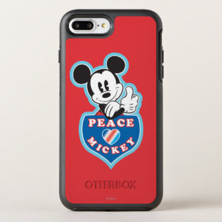 Holiday Mickey   Peace Love OtterBox Symmetry iPhone 7 Plus Case