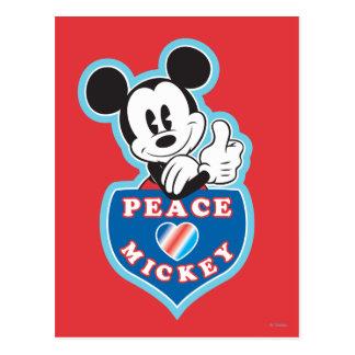Holiday Mickey | Peace Love Postcard