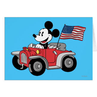 Holiday Mickey | Red Convertible Card