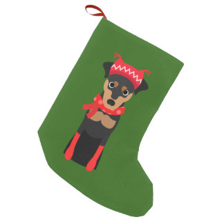 Holiday Miniature Pinscher Christmas Stocking