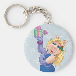 Holiday Miss Piggy Basic Round Button Keychain