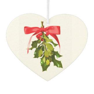 holiday mistletoe car air freshener