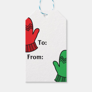 Holiday Mittens Gift Tags