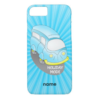Holiday Mode Blue Van iPhone 7 Case