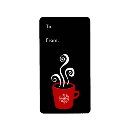 Holiday Mug gift tags / labels