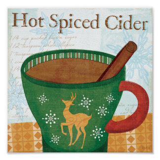 Holiday Mug with Hot Spiced Cider Poster