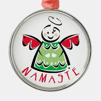 Holiday Namaste Angel Ornament